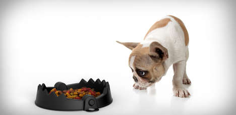 Ensnaring Dog Dishes - The Trap Bowl Takes a Comically Torturous Look for Your Furry Friend