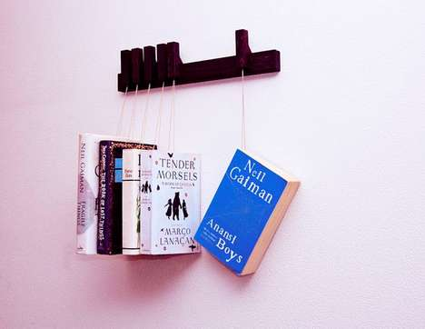 Hanging Book Racks - This Clever Book Rack Shows Off Your Collection While Keeping it Tidy