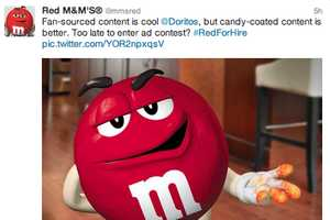 The Red M&M Hopes to Star in Another Brand's Super Bowl Commercial