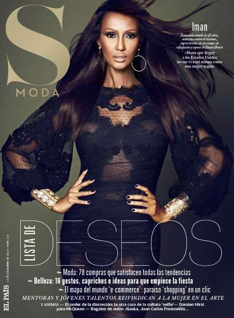 Regal Supermodel Editorials - The S Moda Issue 17 Cover Shoot Stars the Legendary Iman