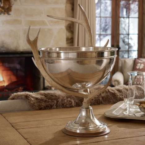 Rustic Horned Punch Holders - This Punch Bowl From Ralph Lauren in Staggeringly Chic