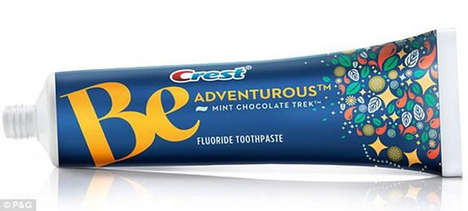 Chocolate-Flavored Toothpaste - Mint Chocolate Trek from Crest Encourages Delicious Dental Hygiene