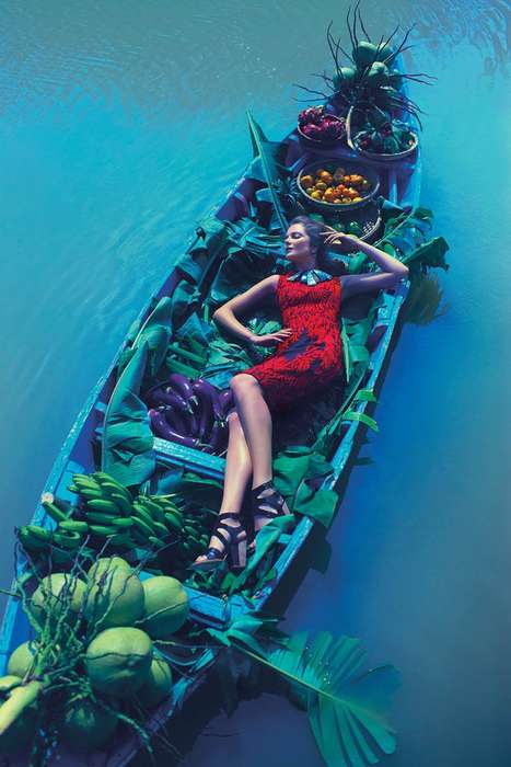 Vietnam-Set Fashion Lookbooks - The Anthropologie SS14 Catalog Stars Eniko Mihalik