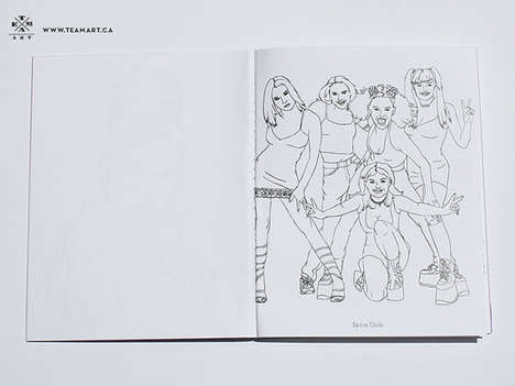 Pop Diva Coloring Books - The 90s Pop Divas Coloring Book From TeamArt is Made for Adults