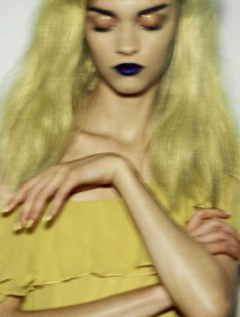 Eclectic Blurred Editorials - David Dunan Captured Magda Laguinge for Stylist France January 2014
