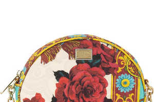 The Dolce and Gabanna Floral-Brocade Shoulder Bag is Delicously Glam