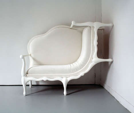 Curvaceous Furniture Artworks - Lila Jang Literally Manipulates Furniture into Whimsical Creations