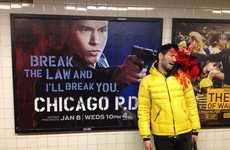 Literal Violent Subway Ads