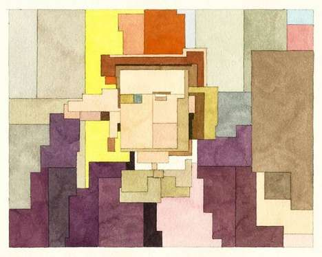 Pixelated Pop Culture Paintings - Adam Lister Paints His Subjects with Watercolor in the 8-Bit Style