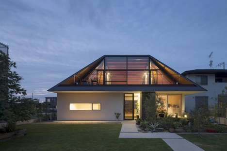 Colossal Roof Structures - This Ibaraki House Features a Giant Roof with High Wooden Beams