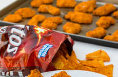 Nacho Chip Chicken Recipes - These Doritos Chicken Strips Will be a Fan Favorite for Party Snacks