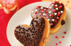 Romantic Heart-Shaped Donuts - Dunkin' Donuts' Cookie Dough Donut is a Perfect Valentine's Day Treat