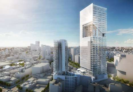Conjoined Translucent Structures - The Multipurpose Reforma Towers Intermix Recreation & Hospitality