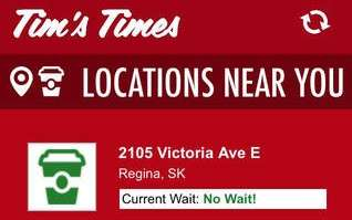 Anticipated Coffee Lineup Apps - Tim's Time App Lets you Know the Wait Time at Any Tim Hortons