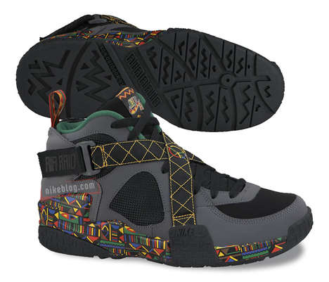 Peace-Themed Basketball Shoes - This Nike Air Raid Retro is Set to be Peace-Themed