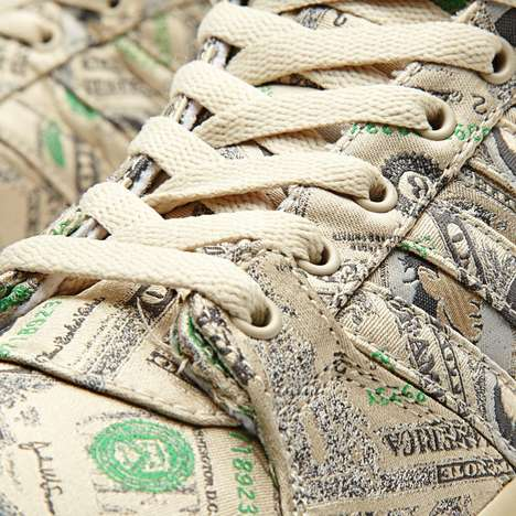 Money-Hungry Sneaker Decals - The Jeremy Scott Sneakers are Designed with Dollar Bills