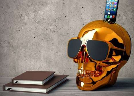 Chromatic Skull Speakers - These Shiny Speakers Fuse Human Anatomy and Music