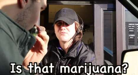 Drive-Thru Marijuana Pranks - This Drive-Thru Marijuana Prank Confuses the Window Workers Every Time