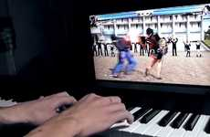 Instrumental Video Game Controllers - Vimeo Member Mc Cool Uses a Piano Controller to Play Tekken