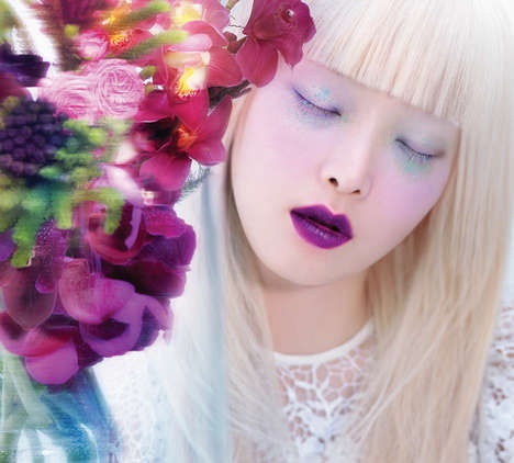 Vividly Efflorescent Beauty Editorials - The Vogue Korea February 2014 Issue is Florally Inspired