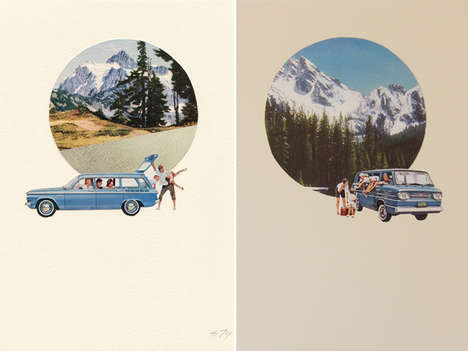 Nostalgic Roadtrip Posters - Amy Alice Thompson's Illustrated Prints are Hipster-Approved