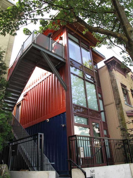Affordable Shipping Container Abodes - The Alexander Street Project Gives People in Need Nice Homes
