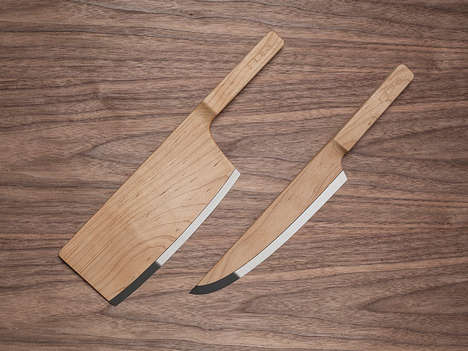 Sleek Wooden Blades - These Maple Wood Knives were Designed by Federal Inc