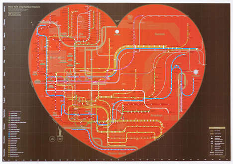 Soulful Subway Maps - City Railway System by Zero Per Zero Captures the Heart of the Metropolis