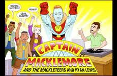 Pop Star Retro Cartoons
