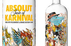 Surreal Carnival Vodka Branding - Let Your Imagination Run Wild with the New Absolut Design