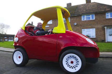 Legalized Children Vehicles - This Little Tikes Car is Full-Sized and Fully Functional for the Road
