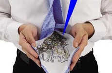 Navigation Aiding Neckties - The Bluebelland Map Tie Hides a Silken Subway Map on its Underside