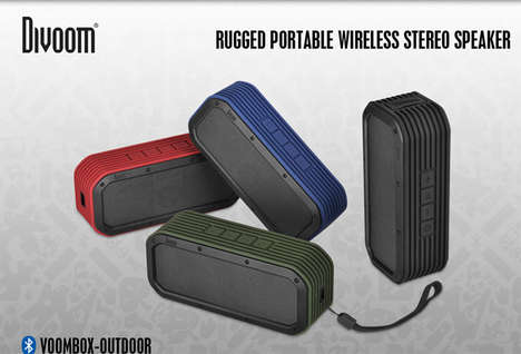 Rugged Outdoor Sound Systems - The Divoom Voombox-Outdoor Bluetooth Speaker is Wateproof and Durable