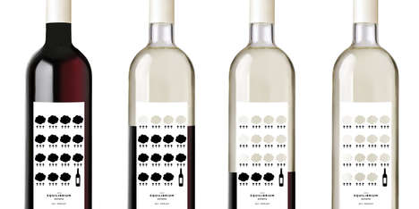 Conscious Graphic Vino Branding - Equilibrium Estate's New Eco-Friendly Wine Keeps You Informed