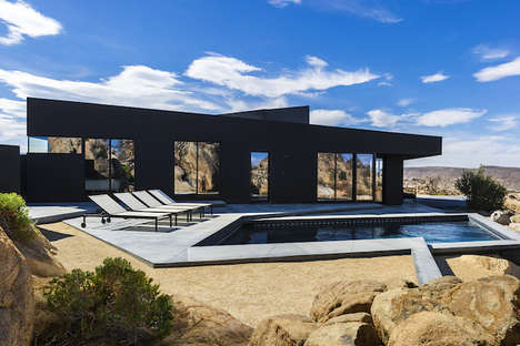 Luxurious Desert Dwellings - The Black Desert House is a Stylishly Modern Desert Home