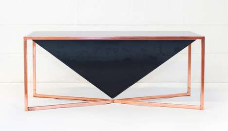Contemporary Polyhedral Tables - The Pyramid Table Takes the Inverted Form of a Monumental Structure
