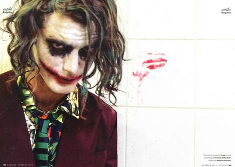 Sly Movie Villain Editorials - The Clement vs The Joker Fashion Story Pays Tribute to Batman's