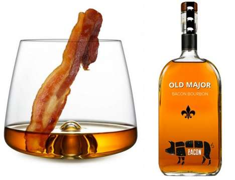 14 Bacon-Infused Booze Innovations - From Pork-Branded Alcohol to Breakfast Maple Whiskies