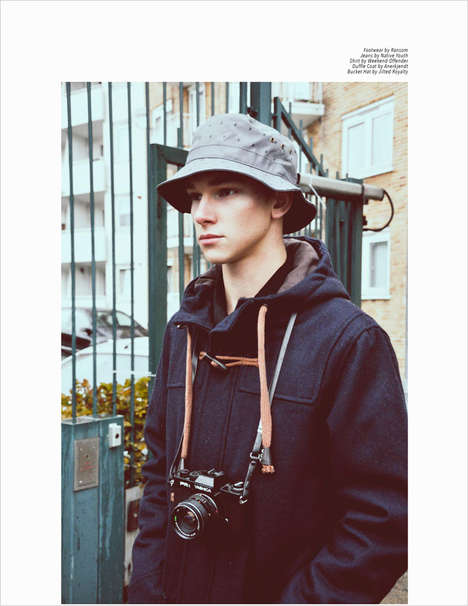 Stylish Tourist Editorials - This Youthful Editorial was Created by Ian Cole for Client Style Guide