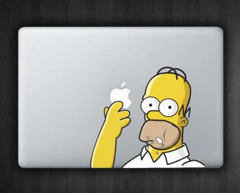 Gluttonous Cartoon Buffoon Stickers - Decorate Your MacBook with the Homer MacBook Sticker