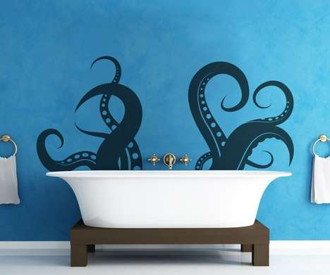 Monstrous Deep Sea Decals - Decorate Your Home with the Tentacle Wall Decal