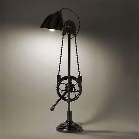 Vintage Mechanical Motion Lamps - Take Your Love of Biking Indoors with the Bicycle Desk Lamp