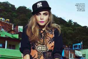Cara Delevingne Stars in this Vogue Brasil February 2014 Editorial