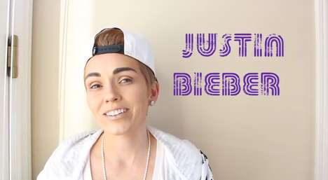 Teen Heartthrob Makeup Transformations - Kandee Johnson Shows How to Be a Justin Bieber Lookalike