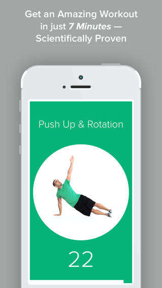Intensified Workout Apps - The Quick Fit App Provides a Condensed 7 Minute Workout Regimen