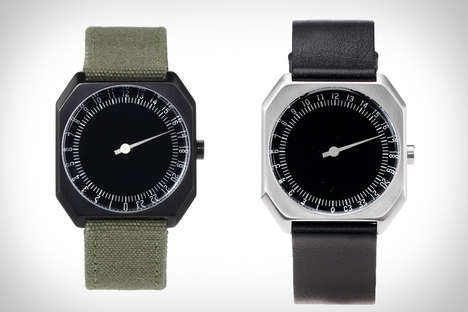 Single-Hand Timepieces - Slow Watches Display Time-of-Day in a Minimalistic, Military Fashion