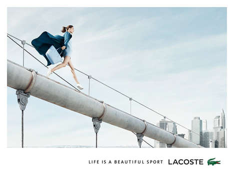 Carefree Cityscape Campaigns - The Lacoste 'Life is a Beautiful Sport' Spring 2014 Ads P