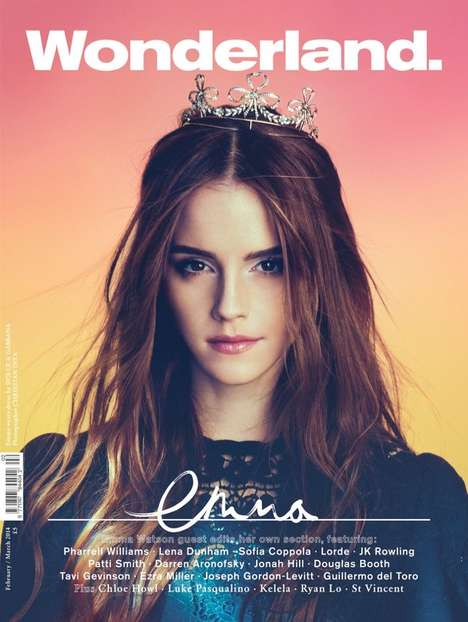 Celeb-Edited Magazine Issues - The Wonderland Magazine February-March 2014 Issue Stars Emma Watson