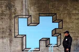 Artist Aakash Nihalani Transforms City Walls into 3D Installations