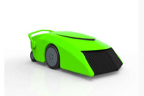 Sustainable Grass-Powered Lawnmowers - This Eco-Friendly Lawnmower Uses the Green to Stay Green